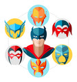 flat superhero concept vector image vector image