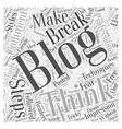 free blogging Word Cloud Concept vector image vector image