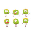 funny humanized purse collection green wallet vector image vector image