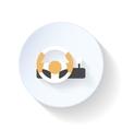 Gaming steering wheel flat icon vector image vector image