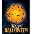 Halloween night background text vector image vector image
