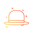 hat icon design vector image