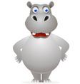 hippo cartoon character vector image vector image
