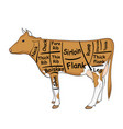 isolated object on white background the cow for vector image vector image