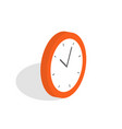 isometric clock icon alarm clock wake-up time vector image vector image