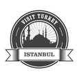 Istanbul stamp with silhouette of mosque vector image vector image