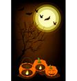 Jack-o-Lantern Pumpkins with Candle Light Inside vector image vector image