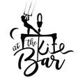 kitesurfer girl lettering design at the bar vector image