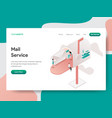 landing page template mail service concept vector image