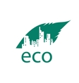logo eco vector image vector image