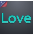 Love you icon symbol 3D style Trendy modern design vector image vector image