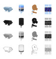 machinery filter system and other web icon in vector image vector image