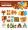 make your present box christmas celebration and vector image vector image
