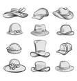 man and woman hats set vector image