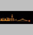 mecca light streak skyline vector image vector image