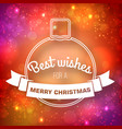 merry christmas decorative template vector image vector image