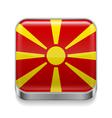 Metal icon of Macedonia vector image vector image
