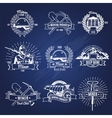 Mining Industry Monochrome Emblems vector image vector image
