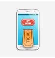 Mobile ticket online service vector image