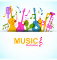 music graphic template vector image vector image