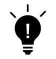 new idea bulb icon simple style vector image vector image
