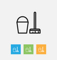 of cleanup symbol on vector image