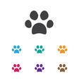 of zoology symbol on cat paw vector image