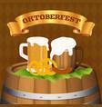 oktoberfest beer festival background concept vector image