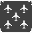 Plane web icon flat design Seamless pattern vector image vector image