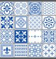 portuguese tiles pattern lisbon indigo design vector image vector image