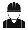 reconstruction worker icon simple style vector image vector image