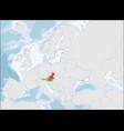 republic austria location on europe map vector image