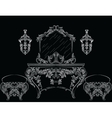 Rich Baroque Rococo furniture vector image vector image