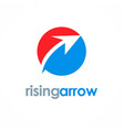 rising arrow logo vector image vector image