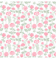 seamless background with gentle color roses vector image vector image