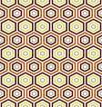 seamless earth tone Hexagon pattern background vector image