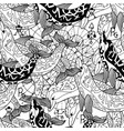 seamless pattern with black and white dolphins vector image vector image