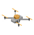 sensor drone icon isometric style vector image