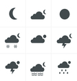 Set of night weather icons vector image vector image