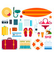 set sea travel flat vector image