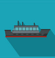ship trip icon flat style vector image