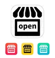 Shop open icon vector image