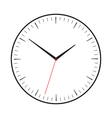 Symbol of clock with red second hand vector image vector image