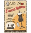 tailor shop poster vector image vector image