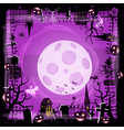 template halloween holiday pumpkin cemetery vector image