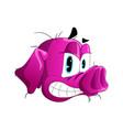 the head of an evil boar vector image