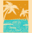 tropical palms background with ocean waves vector image vector image