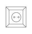 type c socket ac power socket icon european union vector image vector image