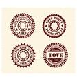 valentine day vintage stamps vector image vector image