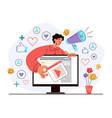 viral marketing referral program strategy internet vector image